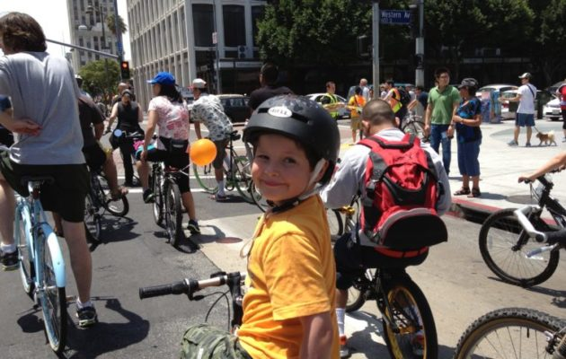 CicLAvia is one of the fun things to do in Los Angeles with your kids. (photo by Yvonne Condes)