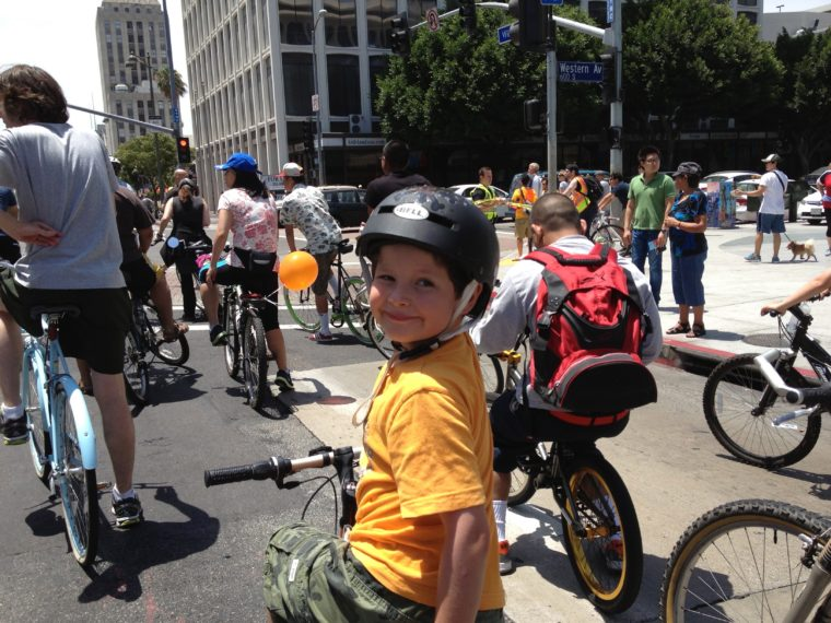 CicLAvia is one of the fun things to do in Los Angeles with your kids.