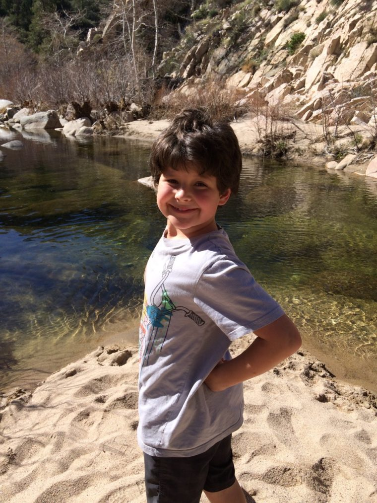 Hiking in the San Bernardino National Forest is one of the fun things to do in San Bernardino with Kids