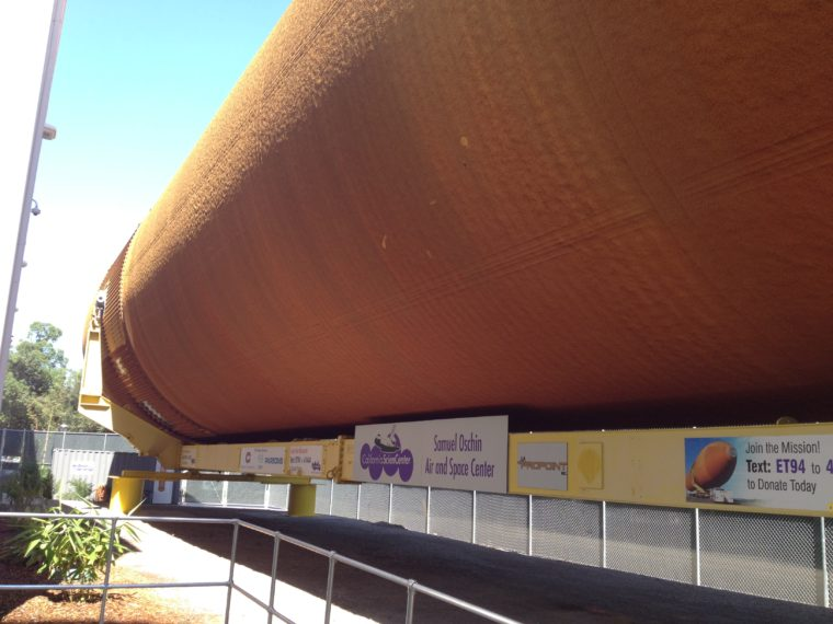 space shuttle endeavour external tank (photo by Wendy Kennar)