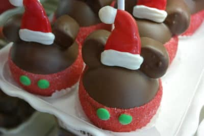 Mickey Mouse Holiday Candy Apples at Disneyland