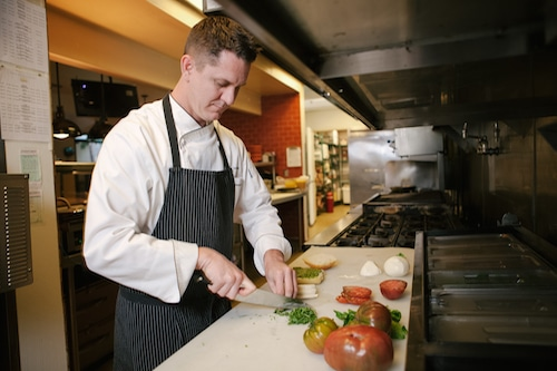 chef Micah Severeid at Glen Ivy Hot Springs