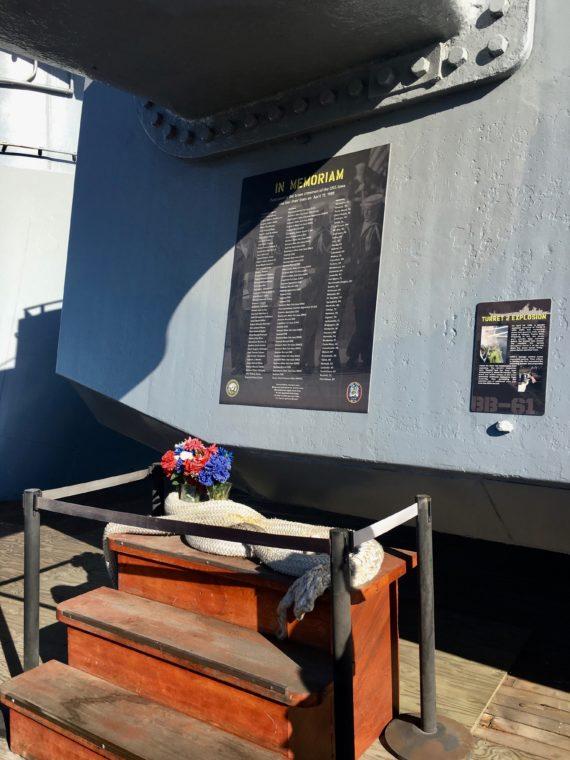 in memoriam USS Battleship Iowa Museum in San Pedro