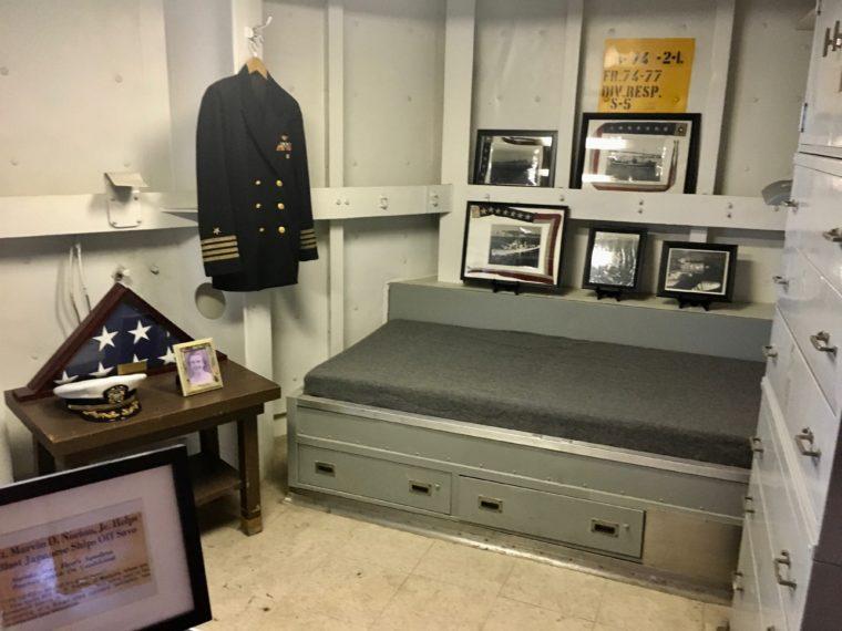 living quarters USS Battleship Iowa Museum in San Pedro