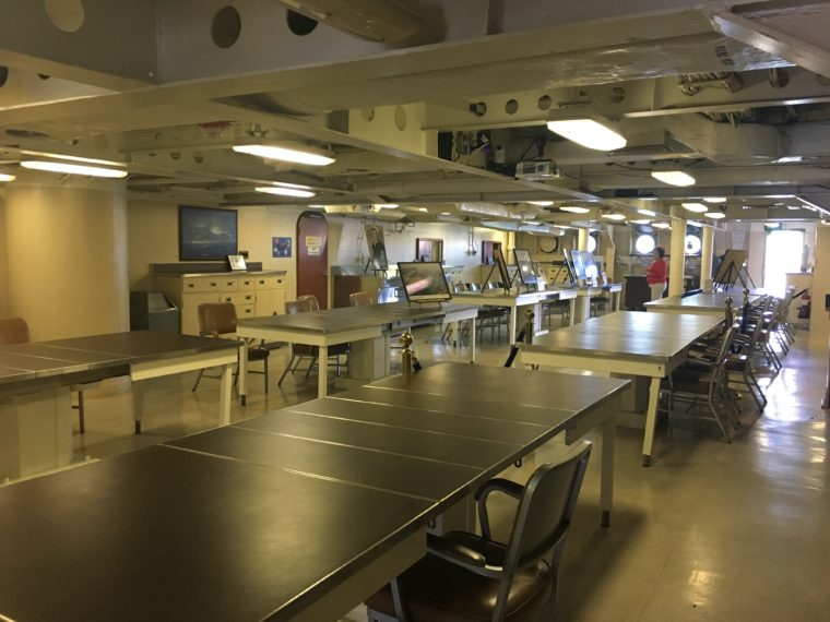 mess hall USS Battleship Iowa Museum in San Pedro