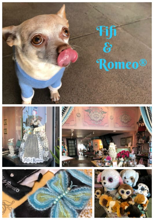 Fifi & Romeo Couture Dog shop on Beverly is by appointment only and a fabulous place to get a gift. #dogs #doggifts #dogsweater #dogtoys
