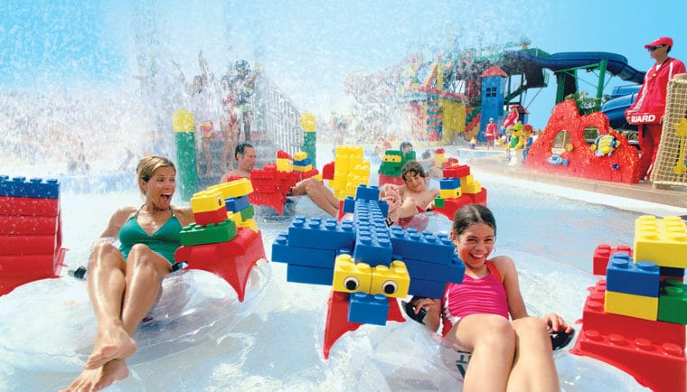 LEGOLAND Water Park floating in lazy river