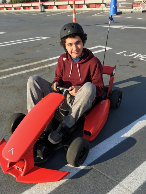 go-kart driven by my son