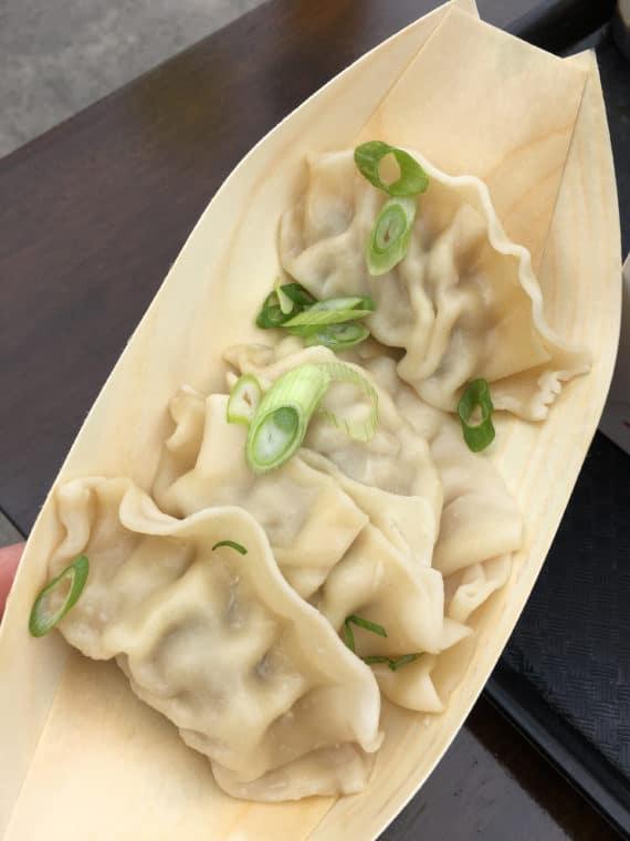 dumplings for Lunar New year at Universal studios hollywood