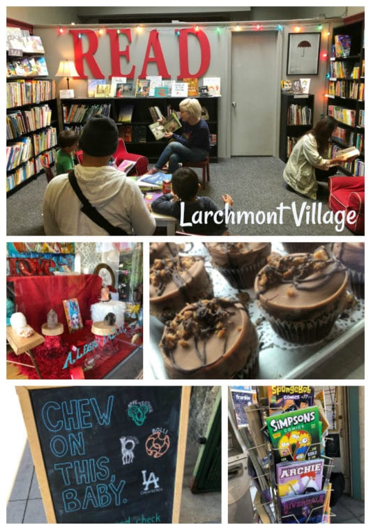 Taking a stroll in Larchmont Village is one of the fun things to do near Hancock Park with kids. #hancockpark #losangeles #thingstodoinla #larchmont #independentbookstores