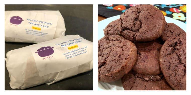 One Potato Box cookie dough and cookies. #onepotato #healthymeals #cookies #redvelvet