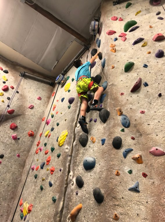 Rock Climbing at Rockreation is one of the fun activities for teens in Los Angeles. #losangeles #rockclimbing #teenactivites