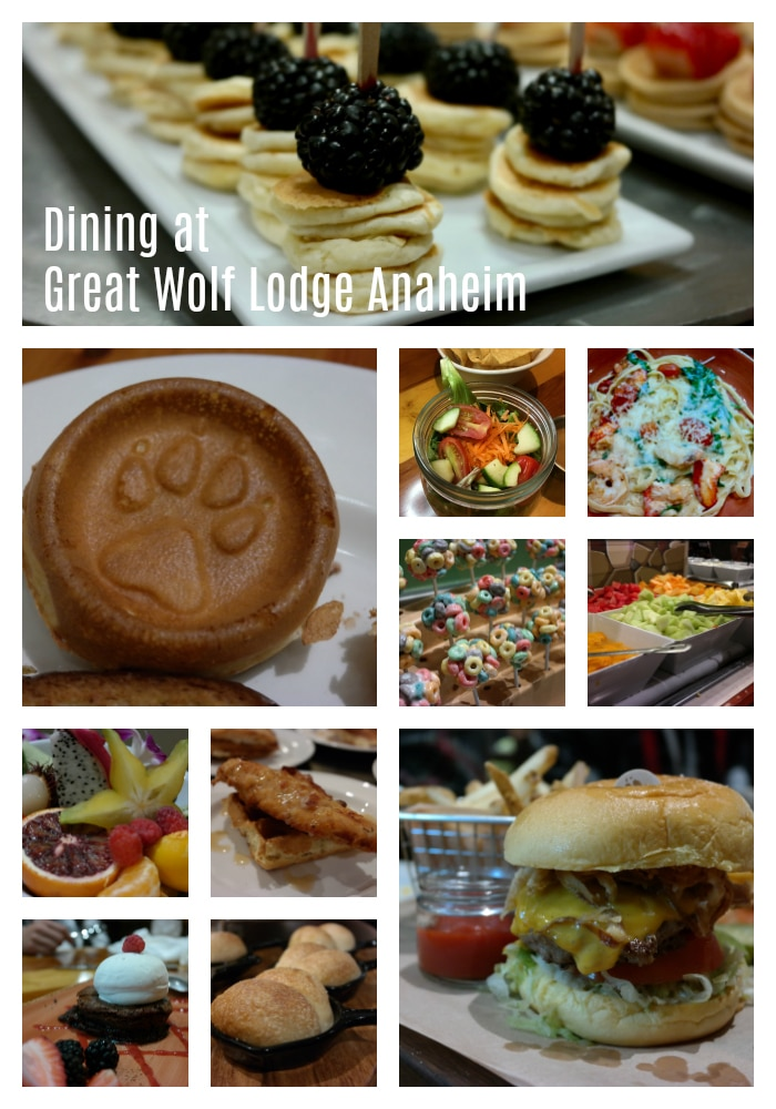 Dining options at Great Wolf Lodge