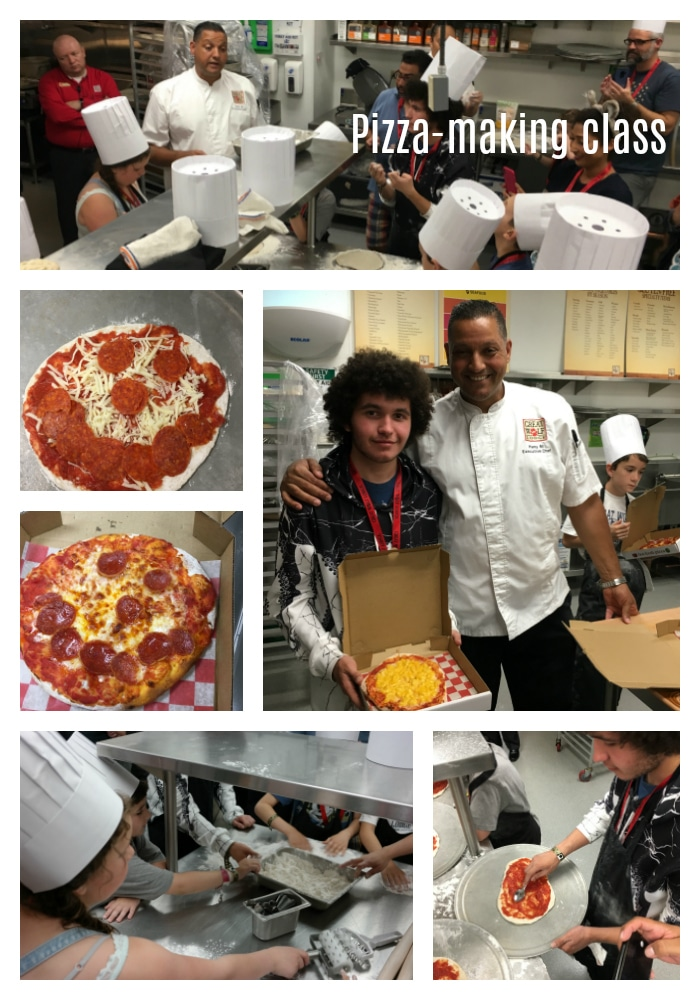 pizza making class collage at Great Wolf Lodge
