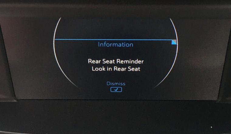 rear seat reminder in Chevy Bolt EV Premier