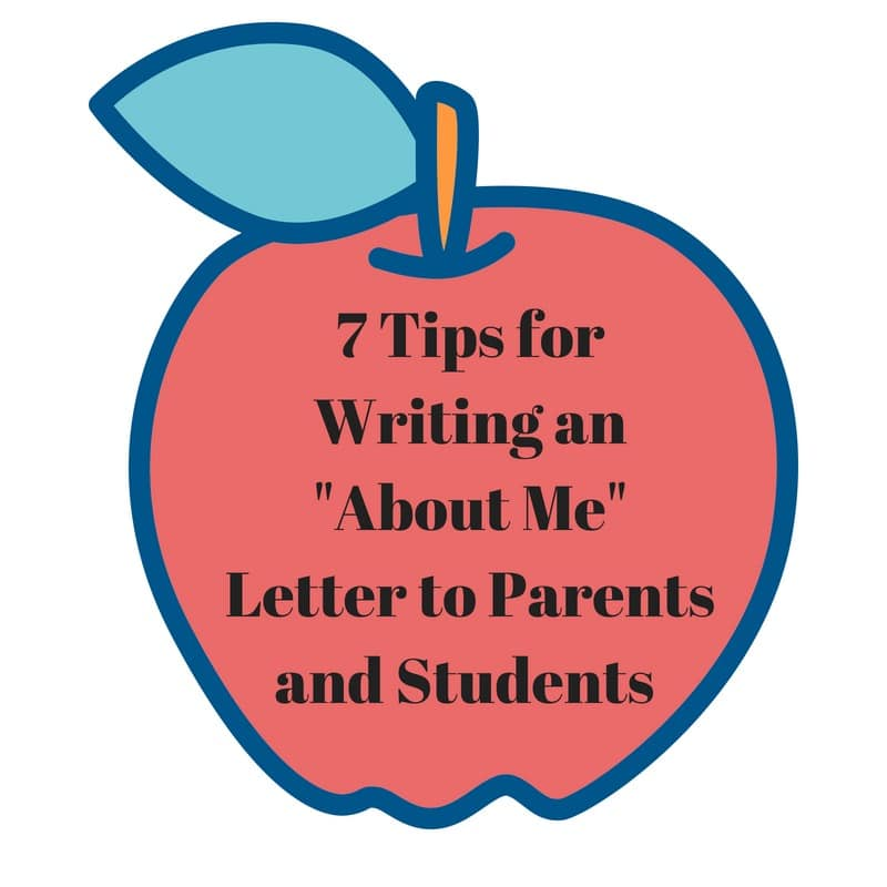 7 Ways To Write An About Me A Teachers Introductory