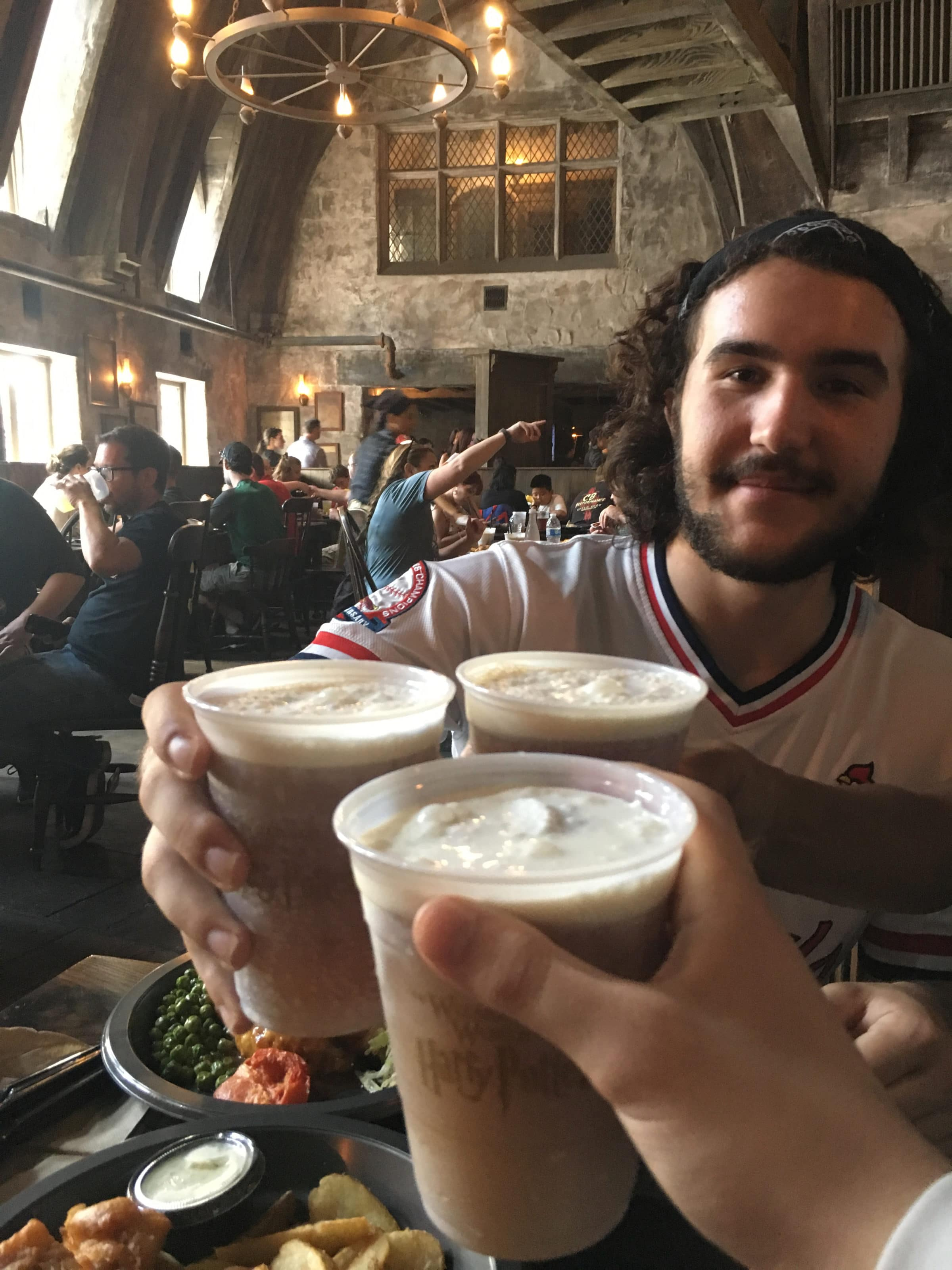 Butterbeer cheers at Universal Studios Hollywood