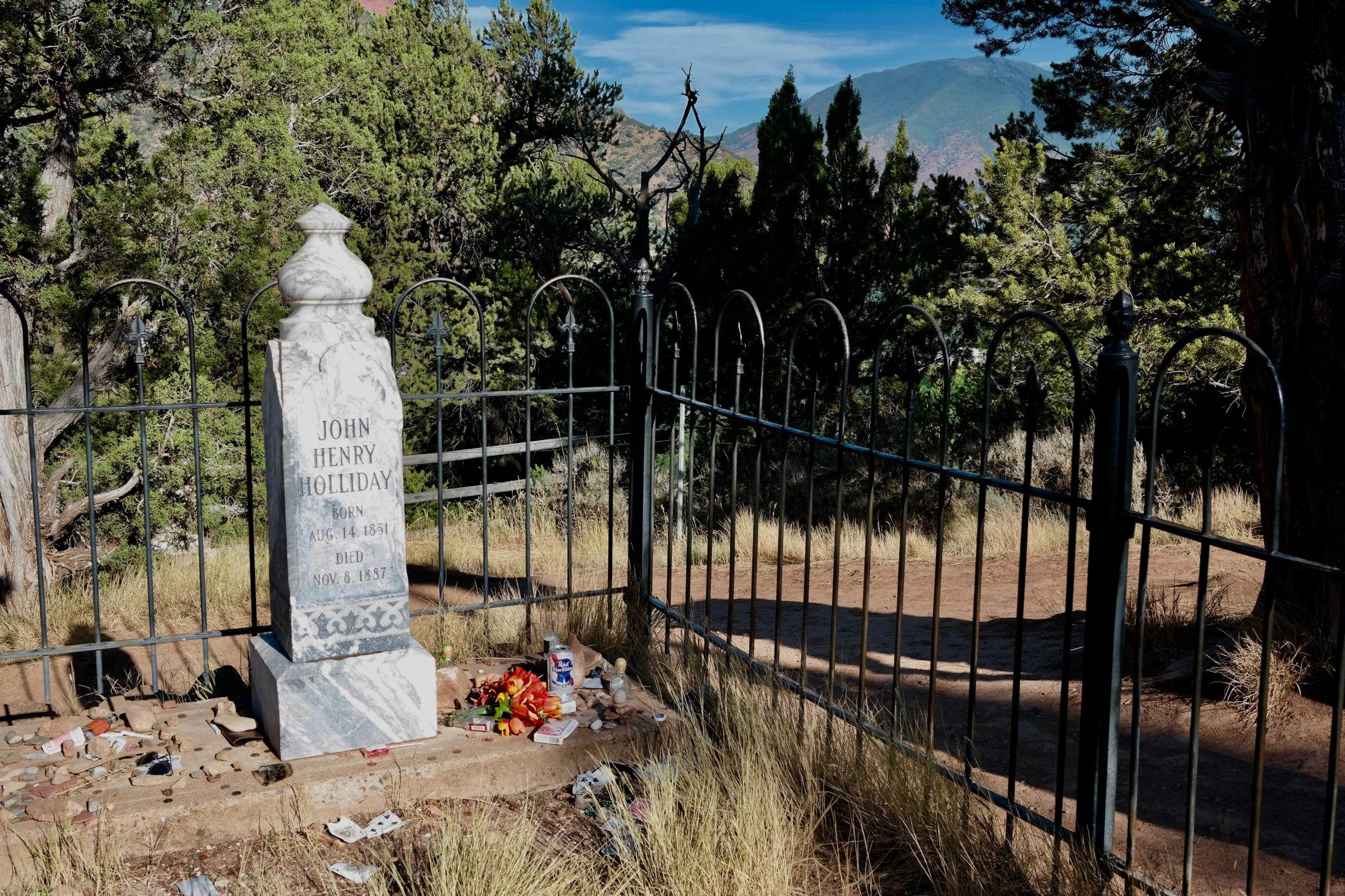 Doc Holliday grave site in Glenwood Springs Colorado