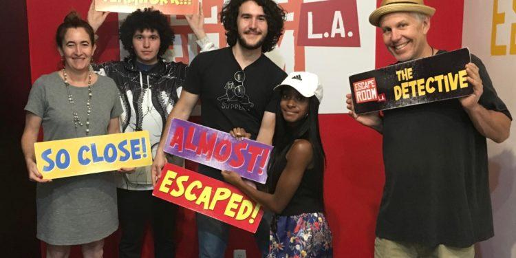 group photo at Escape Room LA