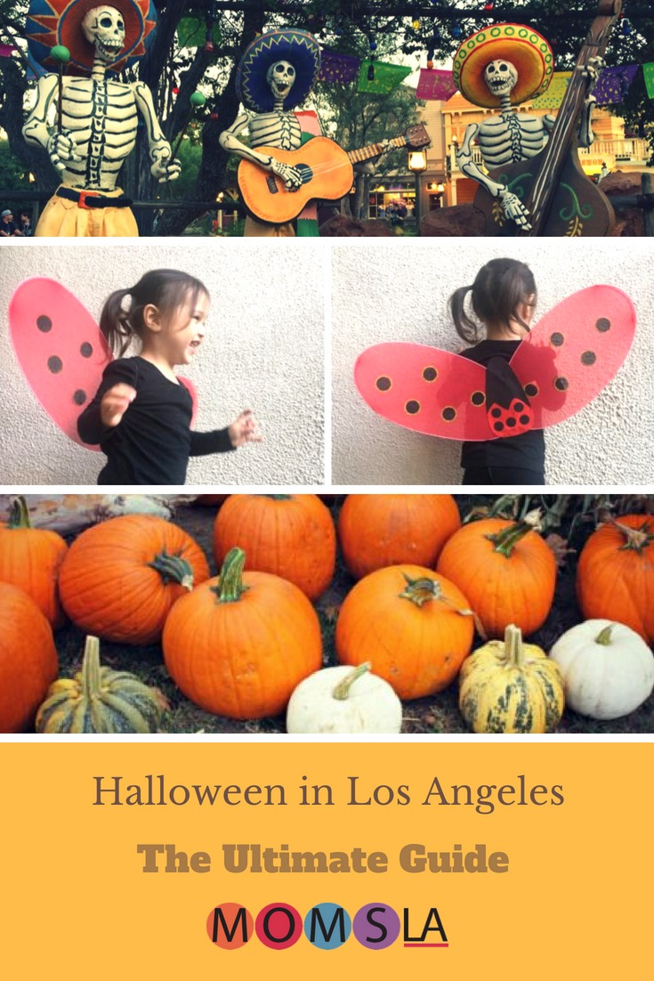 Celebrate Halloween in Los Angeles by making DIY costumes, going to a haunted house or Pumpkin Patch or trick or treating in a local neighborhood. #halloweenlosangeles #halloween #losangeles