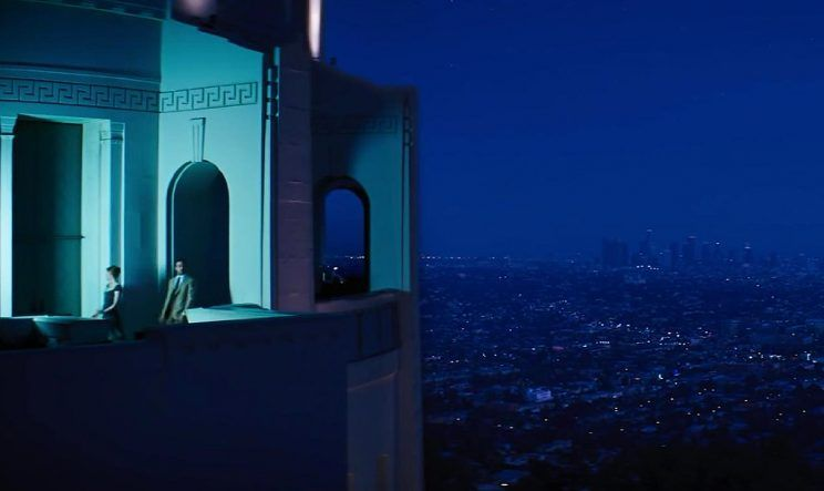 Griffith Observatory (as seen here in the film La La Land) is a great place to go on a date night with your significant other in Los Angeles. #losangeles #onlyinla #datenightlosangeles