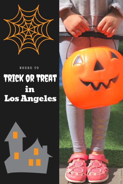 Do you want to go trick or treating in Los Angeles, but don't want to go door to door? Here is our list of great places to trick or treat in LA - from the zoo to the pumpkin patch. #halloween #losangeles #thingstodoinla