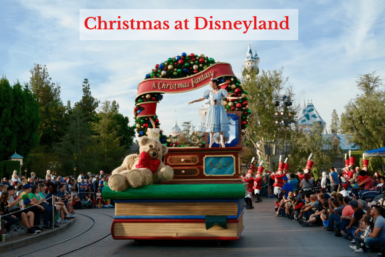 Christmas Fantasy Parade at Disneyland
