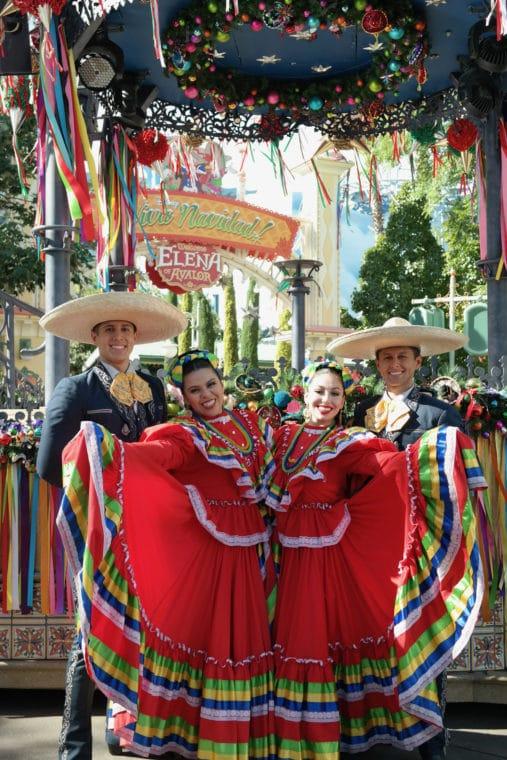 Folklórico dancers at Disney California Adventure for ¡Viva Navidad!