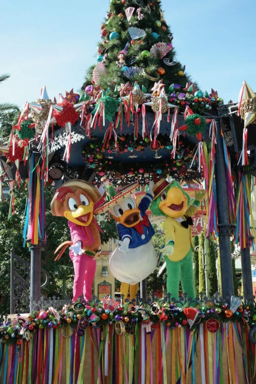 Three Caballeros at Disney California Adventure ¡Viva Navidad!