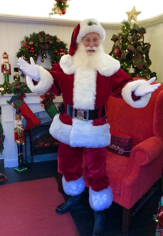 Visiting Santa in the Palisades Village is one of the great places to chat with St. Nick.