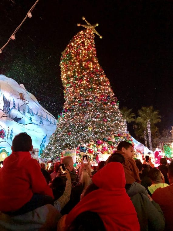 Tree Lighting in Who-ville at Universal Studios. #whovillechristmas #universalchristmas