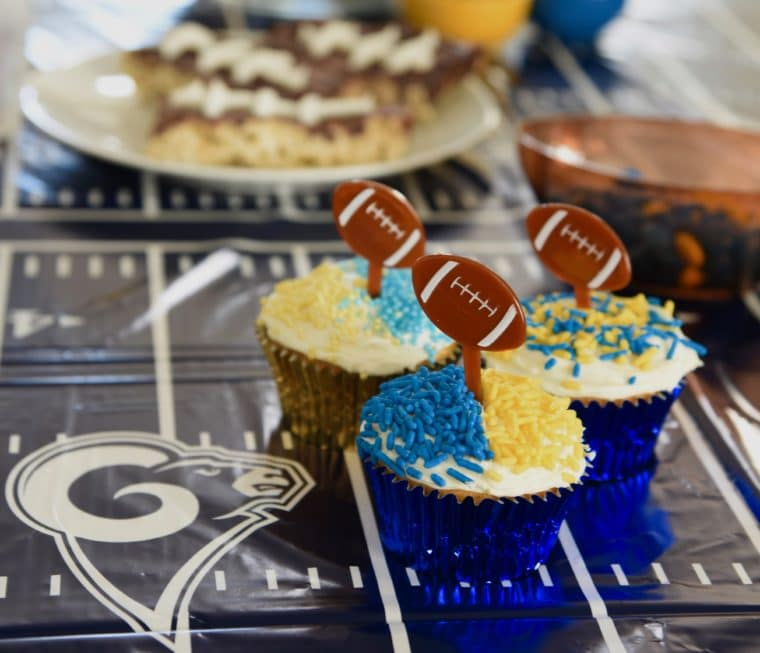 LA Rams Cupcakes Are Some Of The Fun Treats To Make For Super Bowl 2019