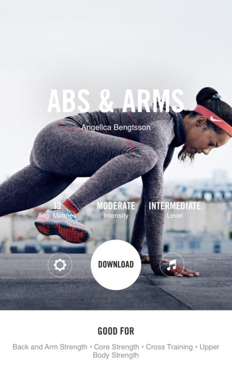 Nike Training Club App is one of the best fitness apps for moms. #fitness #2019 #training #momfitness