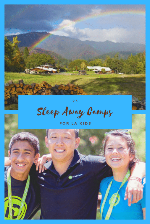 Here are 23 great sleep away summer camps for Los Angeles Kids. #summercamp #losangeles #sleepawaycamp