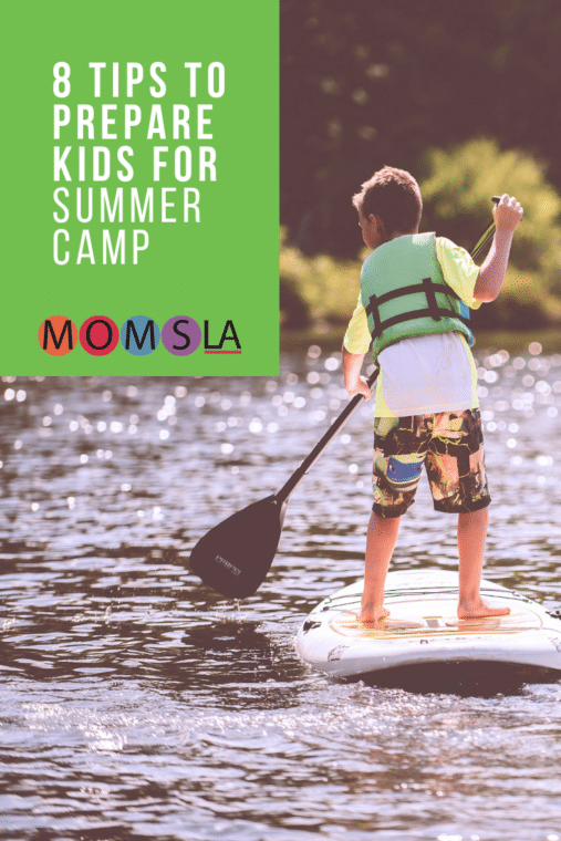 A child's first summer camp is special, but it's not easy for all kids. We have 8 tips to help prepare kids for their summer camp experience. #summercamp #camp #sleepawaycamp #daycamp