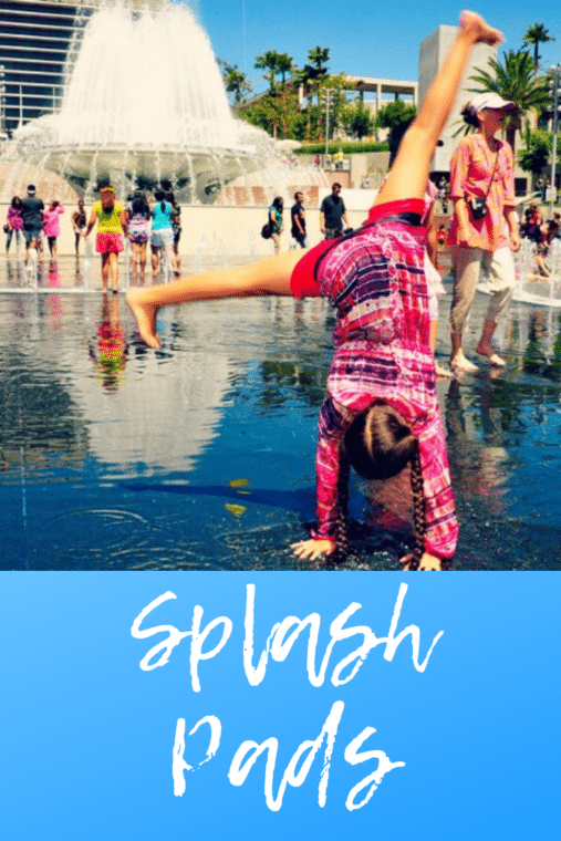 Grand Park is one of the great places in Los Angeles with a spalsh pad open for the summer! #summer #splashpad #summerfun #losangeles