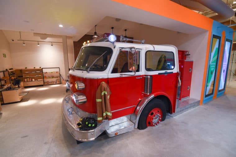 Cayton Children's Museum firetruck
