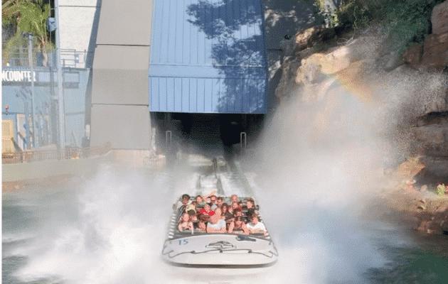 Jurassic world ride at Universal Studios Hollywood