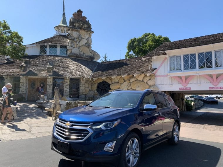 Chevy Equinox stopped at the famous Madonna Inn