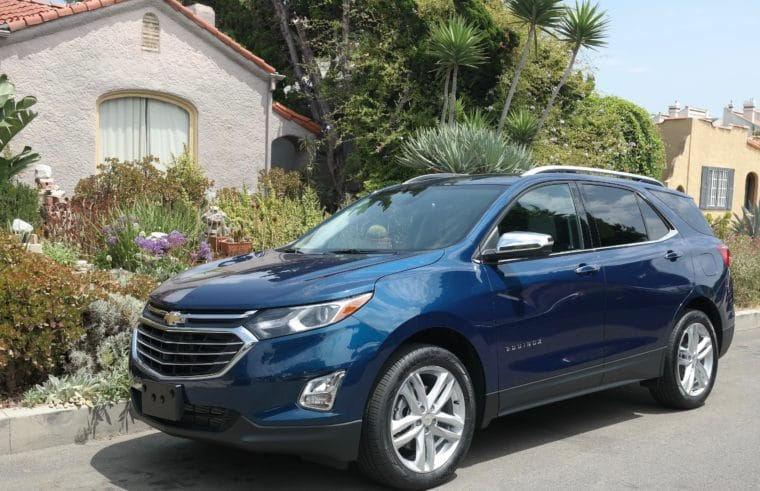 The Chevy Equinox in Pacific Blue Metallic