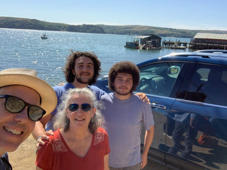 my family at Tomales bay