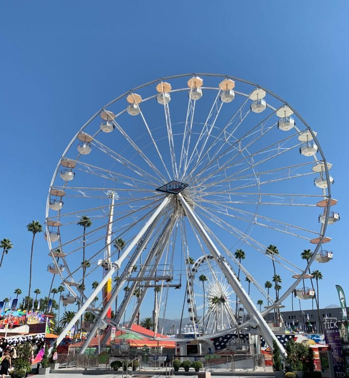 ferris wheel at 2019 LA County Fair