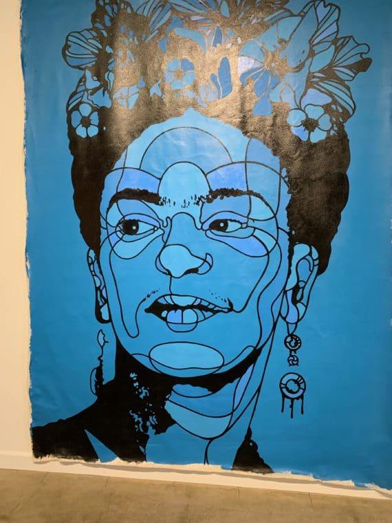 Frida Kahlo portrait at 2019 LA County Fair