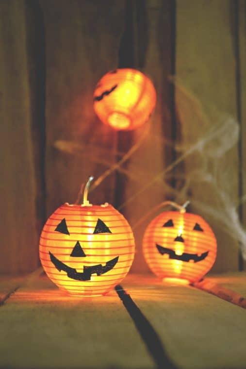 Halloween decorations - light up pumpkins