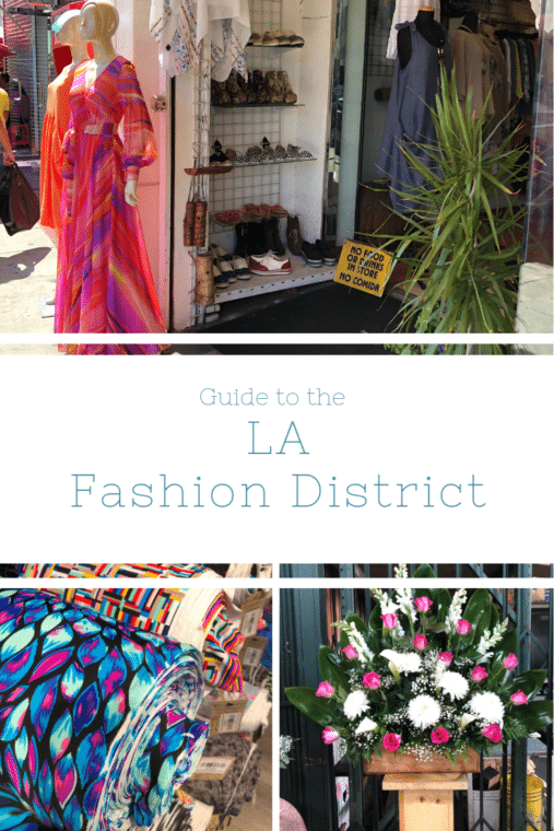LA fashion district overview