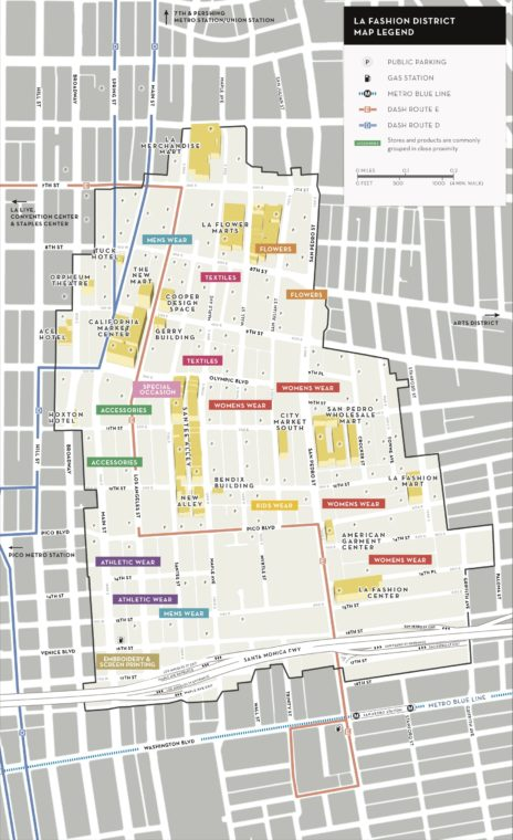 LA fashion district map