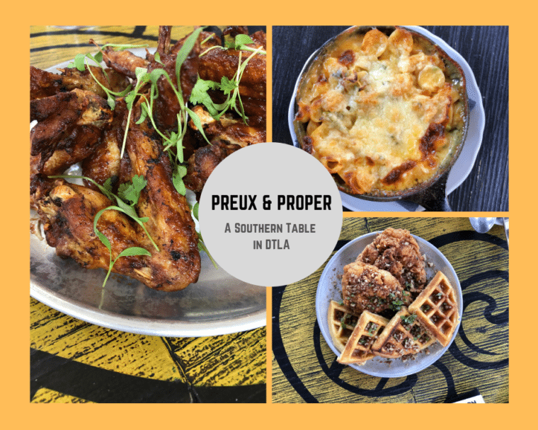 preux and proper restaurant in LA fashion district