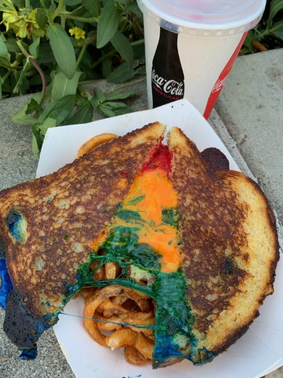 Rainbow grilled cheese at 2019 LA County Fair