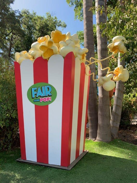 giant popcorn box at 2019 LA County Fair