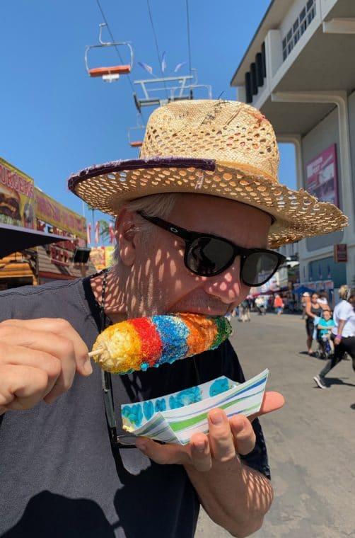 the Uni-corn on a stick at the LA county fair